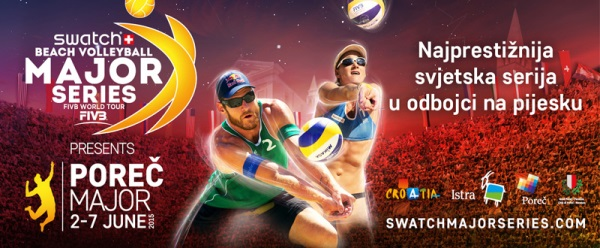 Swatch Beach Volleyball Major Series Poreč 2. – 7. lipanj 2015
