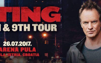 Sting stiže u Hrvatsku