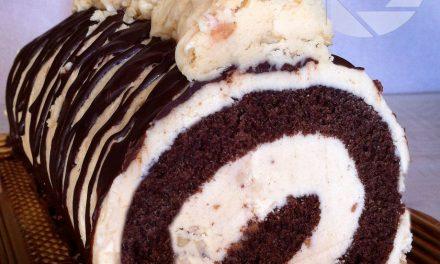 Čokoladna rolada s kremom od kikiriki maslaca
